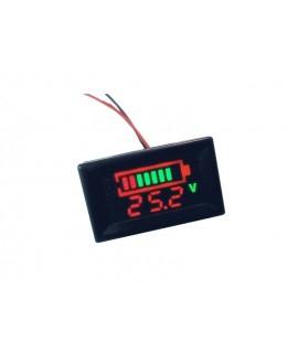 ماژول نشانگر ظرفیت باتری 0 تا 12 ولت پنلی با نمایش ولتاژ باتری
