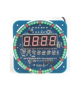 کیت نمایشگر ساعت تاریخ و دما DS1302 (مونتاژ نشده با  قطعات SMD و راهنمای مونتاژ)