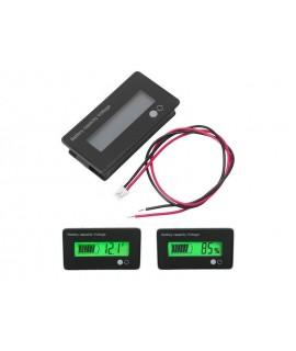 ماژول نمایشگر شارژ باتری بصورت درصد و ولتاژ پنلی 12 ولت