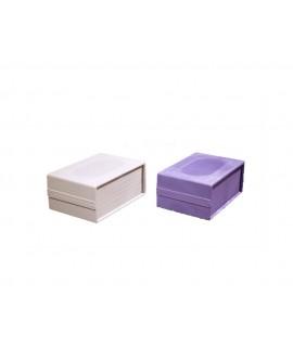 جعبه چهارتکه 14*10 با ارتفاع 6 سانتیمتر رنگ مشکی