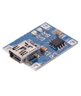 مدار شارژر باتری لیتیوم tp4056 با ماکزیمم جریان 1 آمپر و رابط mini usb