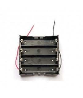 جاباتری چهارتایی با اتصال موازی باتری های لیتیوم یون 3.7V سایز 18650