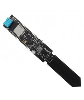 ماژول دما و رطوبت خاک مبتنی بر تراشه ESP32 مجهز به وای فای، بلوتوث و سنسور DHT11