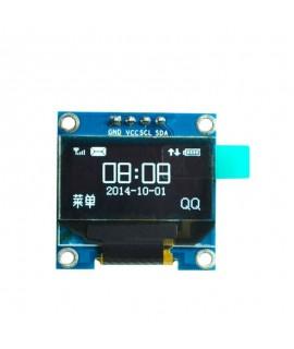 ماژول نمایشگر OLED 0.96 Inch I2C رنگ سفید رزولیشن ۱۲۸×۶۴