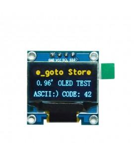 ماژول نمایشگر OLED 0.96 Inch I2C دورنگ آبی و زرد رزولیشن ۱۲۸×۶۴