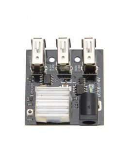 ماژول کاهنده ولتاژ 9 و 12 ولت 8 آمپر به 5 ولت با سه خروجی USB