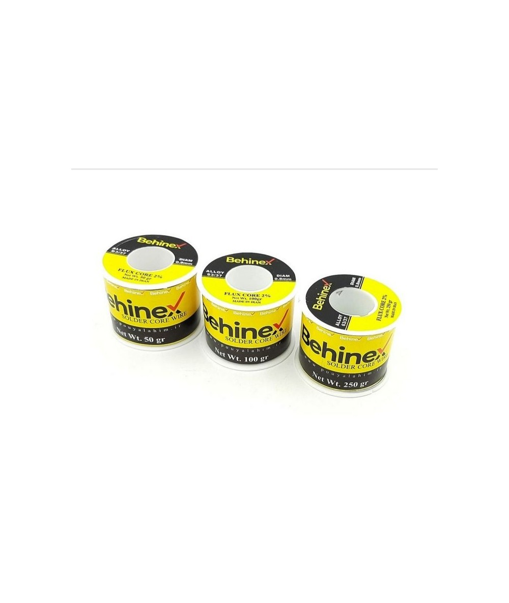 سیم لحیم Behinex بهینکس (جنس درجه یک) 0.8mm/63%/250gr