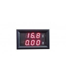 ماژول ولت متر و آمپرمتر 10 آمپر پنلی (قرمز-قرمز)