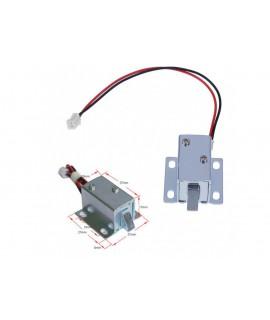 قفل برقی 12 ولت نوک زبانه ای کوچک در ابعاد 27X15X17mm