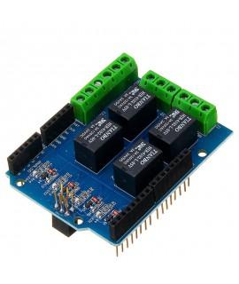 شیلد رله 4 کانال برای آردوینو arduino relay shield