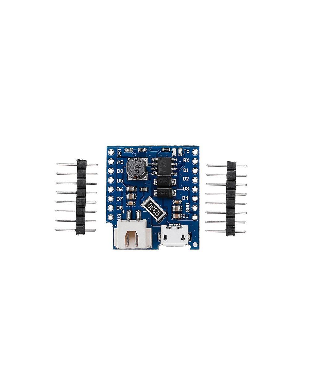 شیلد شارژر باتری با تراشه TP5410 برای برد Wemos D1 Mini