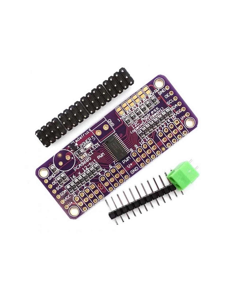 درایور سروو PWM / سروو ۱۲ بیتی ۱۶ کاناله PCA9685 دارای ارتباط I2C