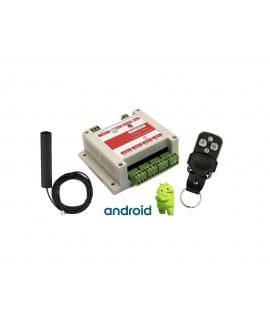 سیستم کنترل از طریق پیامک (SMS) و تک زنگ با 4 خروجی و 4 ورودی مجهز به تایمر و ریموت